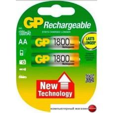 Аккумуляторы GP AA 1800mAh 2 шт. [180AAHC]