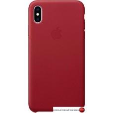 Чехол Apple Leather Case для iPhone XS Max Red
