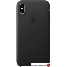 Чехол Apple Leather Case для iPhone XS Max Black
