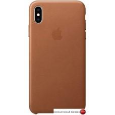 Чехол Apple Leather Case для iPhone XS Max Saddle Brown