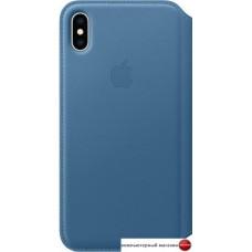 Чехол Apple Leather Folio для iPhone XS Max Cape Cod Blue