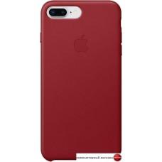 Чехол Apple Leather Case для iPhone 8 Plus / 7 Plus Red