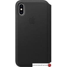 Чехол Apple Leather Folio для iPhone XS Black