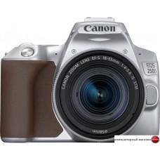 Зеркальный фотоаппарат Canon EOS 250D Kit 18-55 IS STM (серебристый)