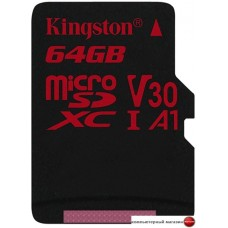 Карта памяти Kingston Canvas React SDCR/64GBSP microSDXC 64GB