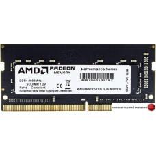 Оперативная память AMD Radeon R7 Performance 4GB DDR4 SODIMM PC4-21300 R744G2606S1S-U