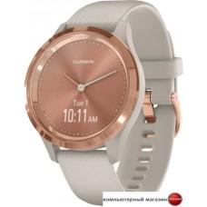 Гибридные умные часы Garmin Vivomove 3S (розовое золото/песочный)