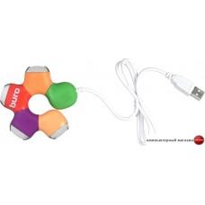 USB-хаб Buro BU-HUB4-0.5-U2.0-Flower